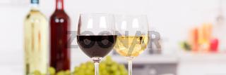 Wein Weißwein Rotwein Weisswein Banner Textfreiraum Copyspace