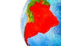 Mercosur memebers on 3D Earth
