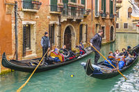 Gondoliers at Venice Canal