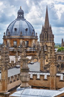 Views across the heart of the university city from the cupola of Sheldonian Theatre. Oxford. England