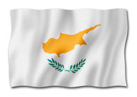Cyprus flag isolated on white