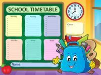 Weekly school timetable template 5