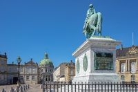 Amalienborg landmark in Copenhagen city, Denamrk.