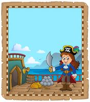 Pirate ship deck topic parchment 3