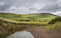 Irish landscape near ventry beach Dingle Peninsula