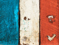 French flag made of painted planks