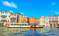 Vaporetto on the Grand Canal in Venice