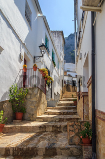 Very steep, narrow street