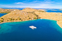 Kornati national park yachting tourist destination aerial view