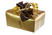 Isolated present in a golden package