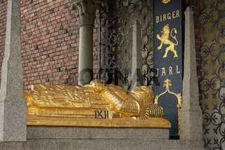 Tomb of Birger Magnusson, who founded Stockholm in the 13th century at Stadshuset
