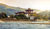 The Punakha Dzong Monastery in Bhutan