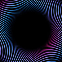 Abstract information technology 3D background with a colored twisted lines.