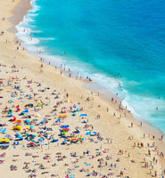People at beach. Aerial view