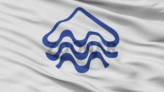 Pucon City Flag, Chile, Closeup View