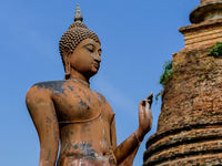 buddha statue in thailand, digital photo picture as a background