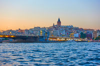 Galata Bridge over Golden Horn inlet