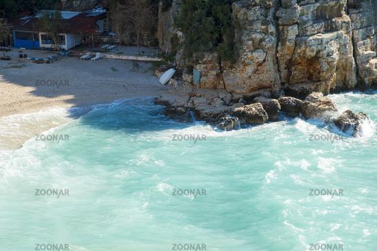 High Angle Mermaid Beach Kas Turkey H