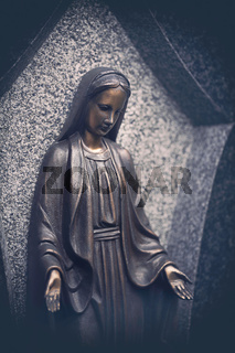 portrait of a bronze maria tomb sculpture