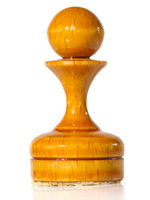 Chess pieces on white background