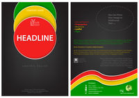 Flyer Template with Colored Circles