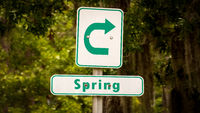 Street Sign to Spring
