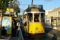 famous tram 28 Lisbon Portugal