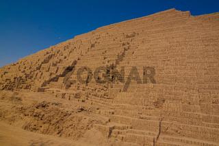 Exterior view to Huaca Pucllana pyramid, Lima, Peru