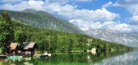 der Bohinjsee im Triglav Nationalpark,Slowenien