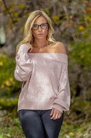 Lovely Blonde Model Enjoying The Outdoors During Fall Break
