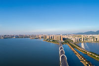 aerial view of  jiujiang cityscape