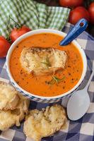 Herzhafte Tomatensuppe