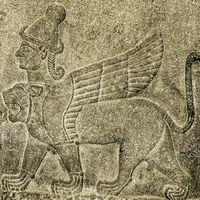 three headed Sphinx legend of Gilgamesh Ankara Turkey