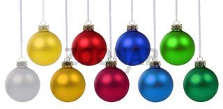 Weihnachten Weihnachtskugeln Banner Farben Weihnachts Kugeln hängen Freisteller