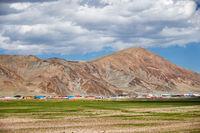 Mongolian Tsagaannuur settlement