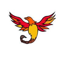 Phoenix Bird With Scorpion Tail Mascot