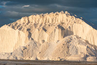 pure salt hill in the evening sun