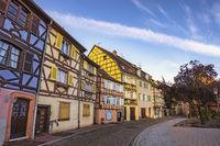 Colmar France, Colorful Half Timber House city skyline