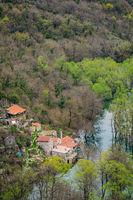 Village on the shore in Skadar Lake National Park