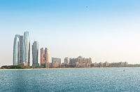 Emirates Palace and skyscrapers of Abu Dhabi