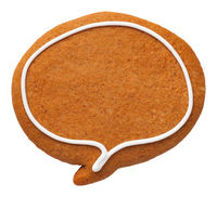 Gingerbread Speech Bubble