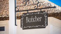 Street Sign to Butcher