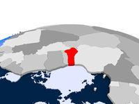 Benin on political globe