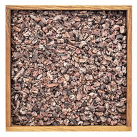 raw cacao nibs in woodeb box