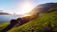 Faroe Islands Houses Sunset