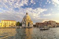 Venice Italy, city skyline at Basilica di Santa Maria della Salute