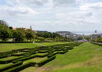 View along Eduardo VII park in central Lisbon