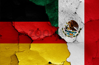 flags of Germany and Mexico