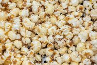 Popcorn heap close-up in a market