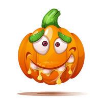 Cute, funny, crazy pumpkin characters. Halloween illustration.